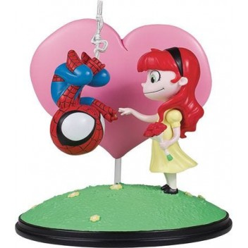 SPIDER-MAN & MARY JANE ANIMATED STATUE - GENTLE GIANT