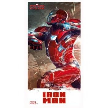 IRON MAN GLASS POSTER 30X60 MARVEL CIVIL WAR