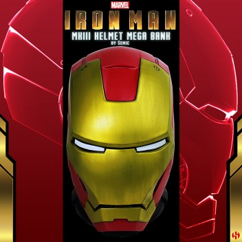 MEGA BANK -  IRON MAN MKIII HELMET - MARVEL