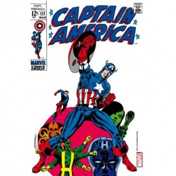 MARVEL STEEL COVER 08 - CAPTAIN AMERICA 111 - COMICS SIZE