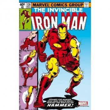 MARVEL STEEL COVER 09 - IRON MAN 126 - GIANT SIZE