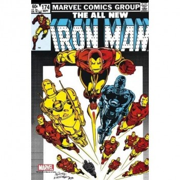MARVEL STEEL COVER 10 - IRON MAN 174 - GIANT SIZE