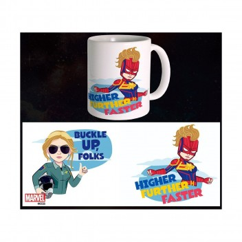 MARVEL MUG CAPTAIN MARVEL - BUCKLE UP