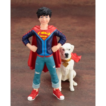 DC COMICS SUPER SONS JONATHAN KENT & KRYPTO 2 PACK ARTFX+ STATUE