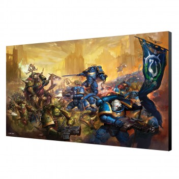 LAMINAGE 60x40 - ULTRAMARINES vs NURGLE - WARHAMMER 40K