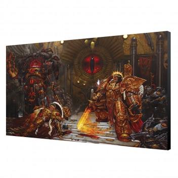 LAMINAGE 60x40 - EMPEROR vs HORUS - WARHAMMER 40K