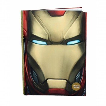 IRON MAN FACE NOTEBOOK W/LIGHT MARVEL CIVIL WAR