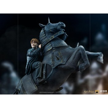 RON WEASLEY AT THE WIZARD CHESS DELUXE ART SCALE 1/10 - HARRY POTTER