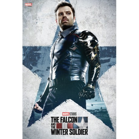 Tableau Falcon and the Winter Soldier - The Winter Soldier 33.7 x 50