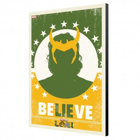 Tableau Loki - Believe 33.7 x 50cm