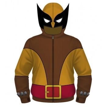 Wolverine Brown Costume Hoodie  L