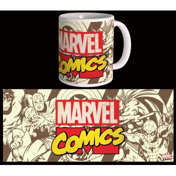 MARVEL MUG COMICS - RETRO LOGO