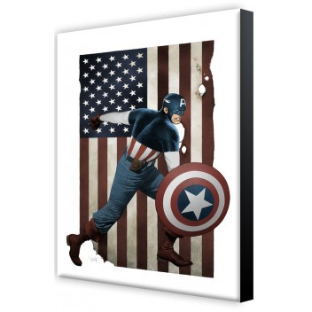 SEMIC LAMINAGE 02 - CAPTAIN AMERICA BY T. CHAREST - 26.50 x 17.50cm