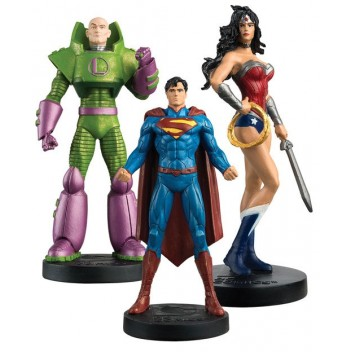 JUSTICE LEAGUE COFFRET N°1 SUPERMAN WONDER WOMAN LEX LUTHOR