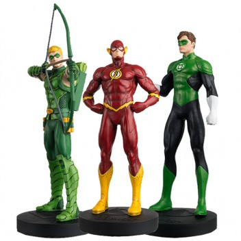JUSTICE LEAGUE COFFRET N°2 GREEN ARROW FLASH GREEN LANTERN